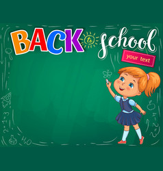 back to school bright for your text vector image
