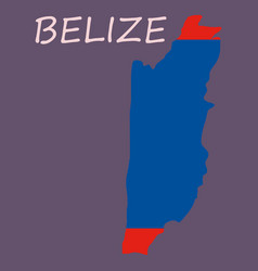 Belize map high detailed isolated on white vector