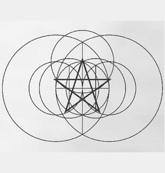 birth of a pentagram vector image