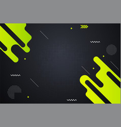 Black and green abstract design background vector