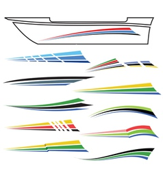 Boat graphics vector