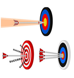 Business hitting arrow target icon vector