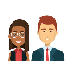 Businesspeople avatars characters icon vector