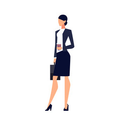 businesswoman in a flat style isolated on white vector image