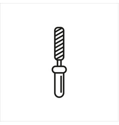 Chisel rasp file grater instrument icon vector