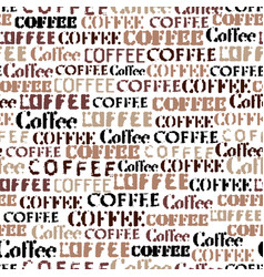 Coffee abstract coffee pattern seamless image vector