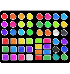colorful sticker set vector image