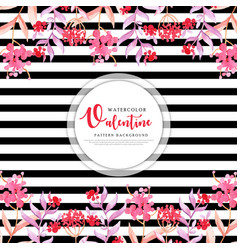 colorful watercolor valentine background vector image