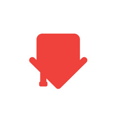 concept of house icon showing down in an arrow vector image