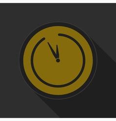 Dark gray and yellow icon - last minute clock vector