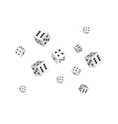 Dices background for casino sharp edges vector