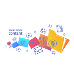 digital marketing communication social media vector image