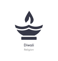 Diwali icon isolated diwali icon from religion vector