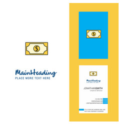 dollar creative logo and business card vertical vector image