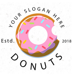 Donuts est 2018 white background image vector