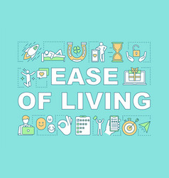 Ease living word concepts banner consumerism vector