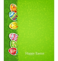 Easter festive background and egg in grass vector