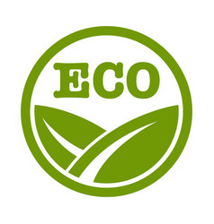 eco logo with leaf vector image