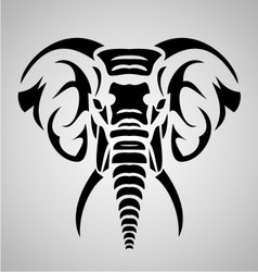 Elephant Tribal vector