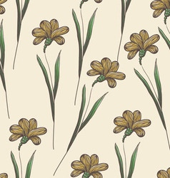 Endless floral pattern vector image