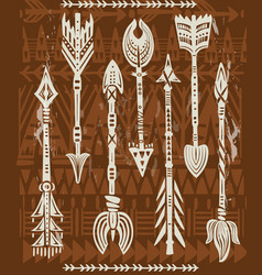ethnic tribal arrows vector image