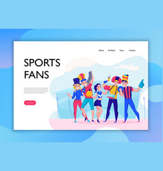 fans cheering team concept banner vector image