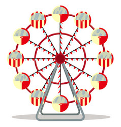 ferris wheel isolated on white background vector image