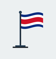 flag of costa-ricaflag stand vector image