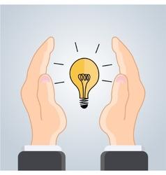 flat idea icon background Eps 10 vector image