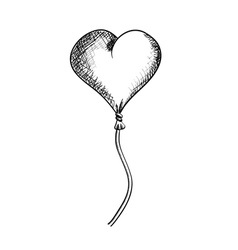 Flying heart isolated on the white vector