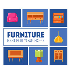 Furniture banner template best for your home vector