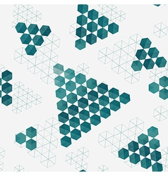 Geometric pattern of hexagons triangles vector