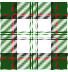green and red tartan plaid seamless pattern vector image