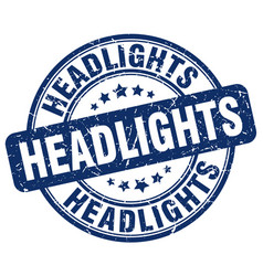 Headlights blue grunge stamp vector