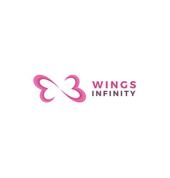 Healthy heart infinity logo vector