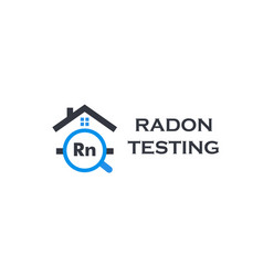 Home radon testing service logo rn pollution vector