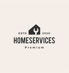home service hipster vintage logo icon vector image