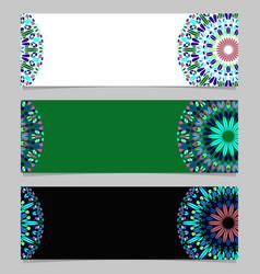 Horizontal colorful floral mandala banner vector