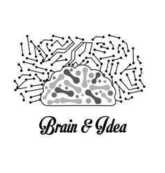 Human organ Brain icon graphic vector image