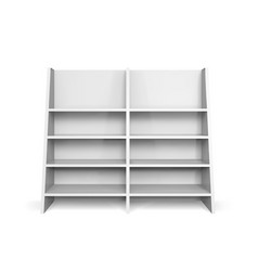 Inclined promotion shelving mockup isolated vector
