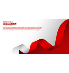 Indonesia independence day background design vector