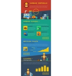 Infographic Garbage Layout vector