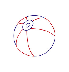 isolated beach ball design vector image
