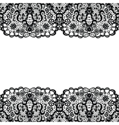 Lacy backgound Black lace vector image