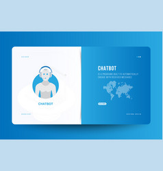Landing page design template for web site with vector