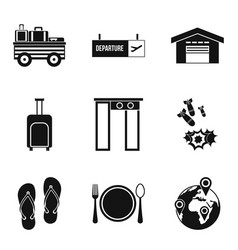 Load capacity icons set simple style vector