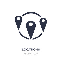 Locations icon on white background simple element vector