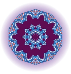 Mandala tribal design Ethnic ornament Template vector