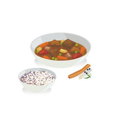Meat stew vector