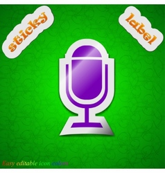 Microphone icon sign Symbol chic colored sticky vector image